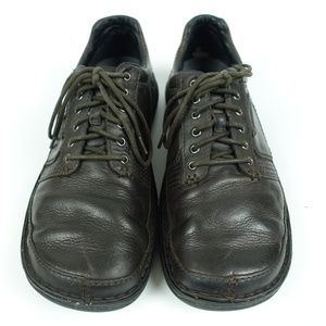 Psychic Leaf Brown Leather 6 Eye Lace Up Oxfords